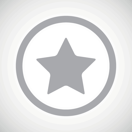 ideogram: Grey image of star in circle, on white gradient background Illustration