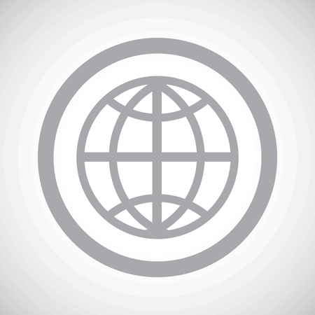 parallel world: Grey globe symbol in circle, on white gradient background