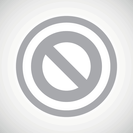 veto: Grey image of NO sign in circle, on white gradient background