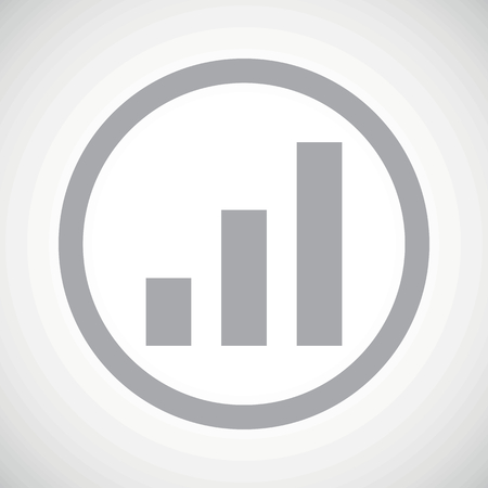 grey scale: Grey image of volume scale in circle, on white gradient background