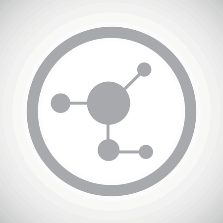 gray matter: Grey image of molecule in circle, on white gradient background