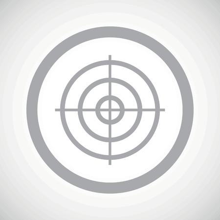 radar gun: Grey image of aim in circle, on white gradient background