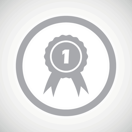 corroboration: Grey image of first place award in circle, on white gradient background