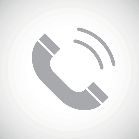 phone receiver: Grey image of ringing phone receiver, on white gradient background