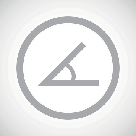 Grey image of angle in circle, on white gradient background Illustration