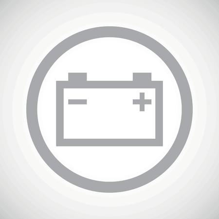 accumulator: Grey image of accumulator in circle, on white gradient background