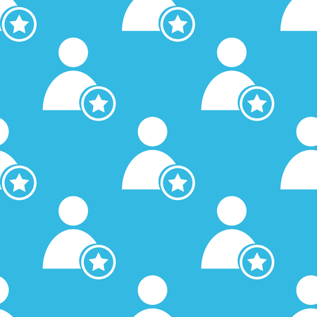 repeated: Image of user icon with star, repeated on blue background