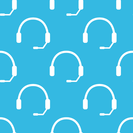 repeated: Image of headset, repeated on blue background