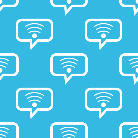repeated: Wi-Fi symbol in chat bubble, repeated on blue background Illustration