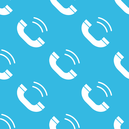 repeated: Image of ringing phone receiver, repeated on blue background Illustration