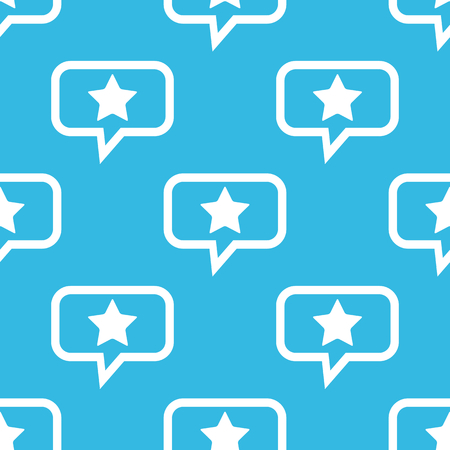 ideogram: Image of star in chat bubble, repeated on blue background
