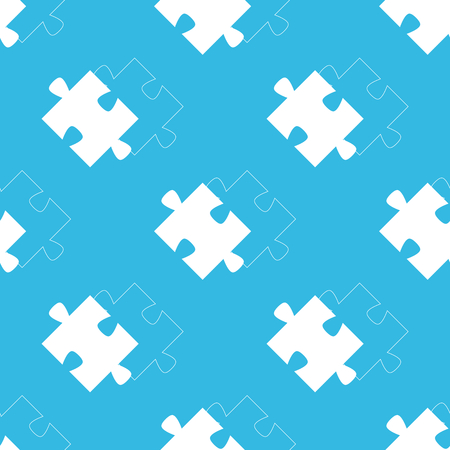 repeated: Image of puzzle and its contour, repeated on blue background