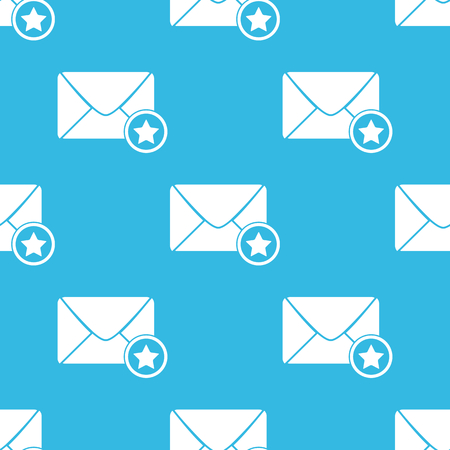 sender: Image of envelope with star, repeated on blue background