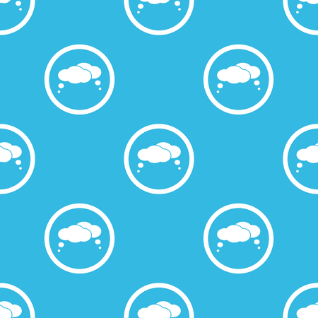 estimation: Image of two thought bubbles in circle, repeated on blue background