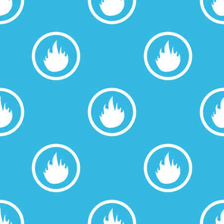 blue flame: Image of flame in circle, repeated on blue background Illustration
