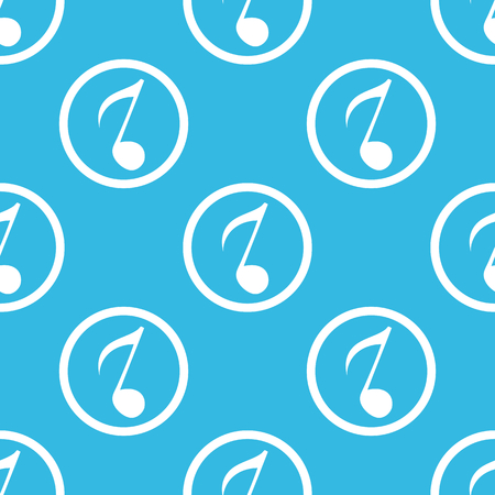 eighth: Image of eighth note in circle, repeated on blue background