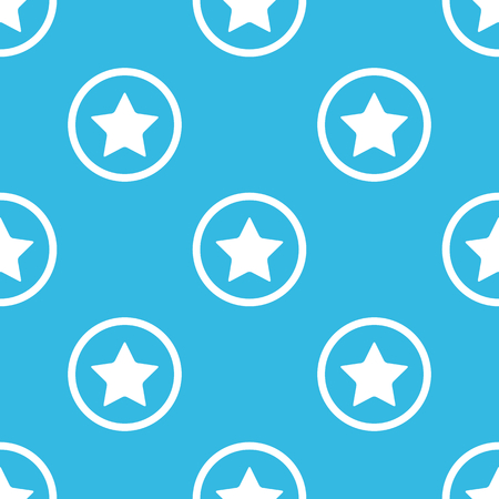 ideogram: Image of star in circle, repeated on blue background