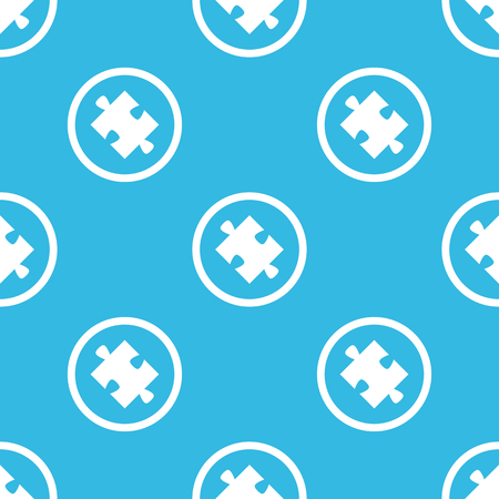 repeated: Image of puzzle piece in circle, repeated on blue background Illustration