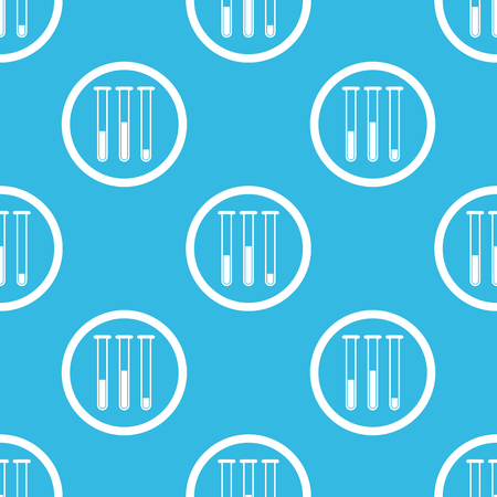 reagents: Image of three test-tubes in circle, repeated on blue background