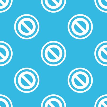sign in: Bild kein Zeichen im Kreis, auf blauem Hintergrund wiederholt