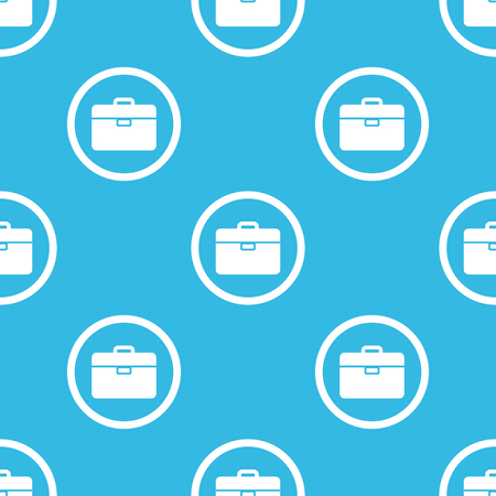 repeated: Image of briefcase in circle, repeated on blue background Illustration