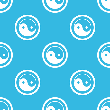 dao: Image of ying yang symbol in circle, repeated on blue background