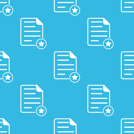 article writing: Image of document page with star, repeated on blue background Illustration
