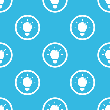 blue bulb: Image of light bulb in circle, repeated on blue background Illustration