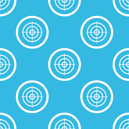 repeated: Image of aim in circle, repeated on blue background