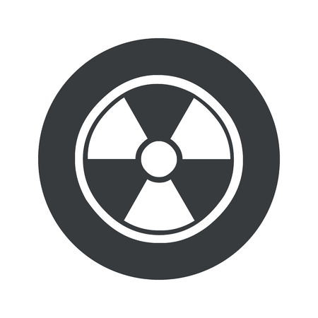 hazard symbol: Image of radio hazard symbol in black circle, isolated on white