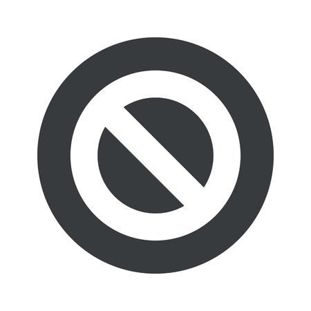 sign in: Bild kein Zeichen in schwarzer Kreis, isoliert auf wei�