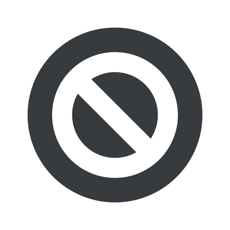 no image: Image of NO sign in black circle, isolated on white