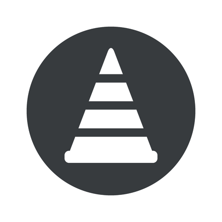 bypass: Image of traffic cone in black circle, isolated on white Illustration