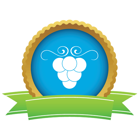 cluster: Certificate seal with image of grape cluster, isolated on white