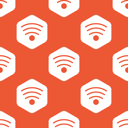 provider: Image of Wi Fi symbol in white hexagon, repeated on orange background