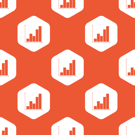 repeated: Image of graphic in white hexagon, repeated on orange background