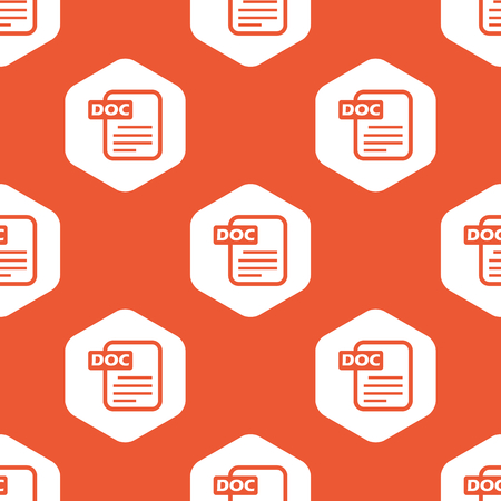 ms: Image of document page with text DOC in white hexagon, repeated on orange background