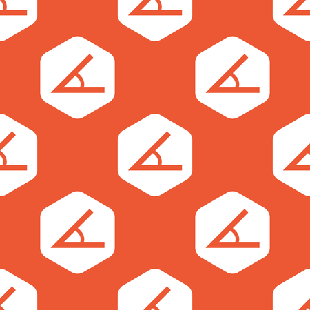 endpoint: Image of angle in white hexagon, repeated on orange background