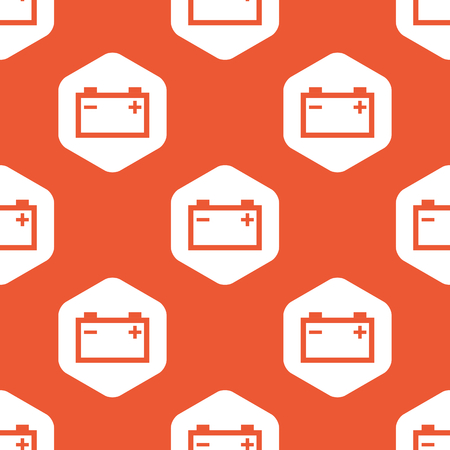 accumulator: Image of accumulator in white hexagon, repeated on orange background
