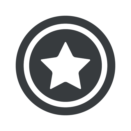 ideogram: Image of star in circle, on black circle, isolated on white Illustration