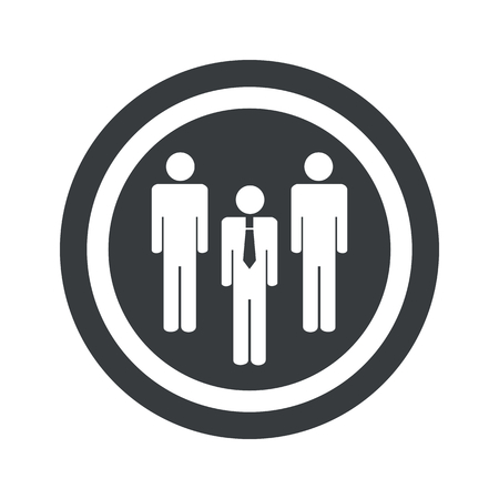 intercourse: Image of three people group in circle, on black circle, isolated on white Illustration