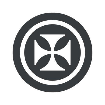 maltese: Image of maltese cross in circle, on black circle, isolated on white Illustration