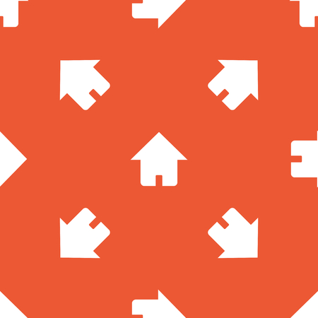 repeated: Image of house, repeated on orange background