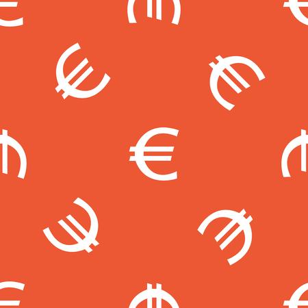 repeated: Image of euro symbol, repeated on orange background Illustration