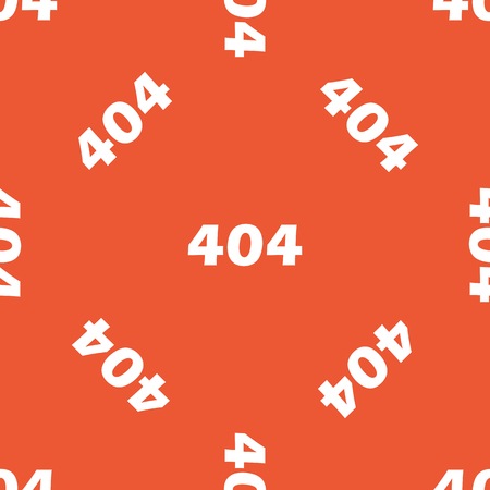 repeated: White text 404, repeated on orange background