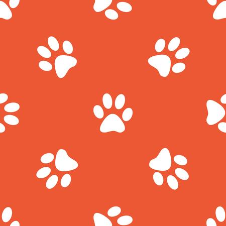 track pad: Image of paw print, repeated on orange background Illustration