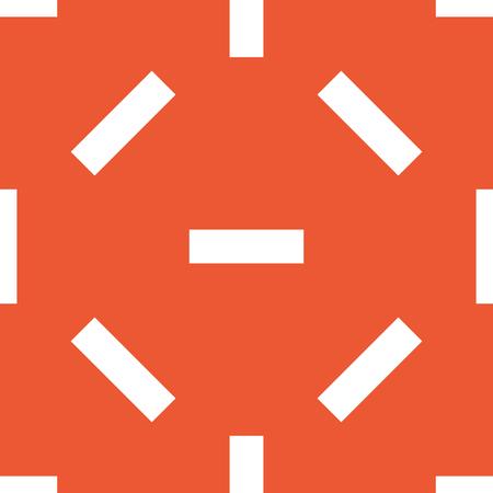 repeated: Image of minus symbol, repeated on orange background