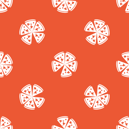 repeated: Image of pizza, repeated on orange background