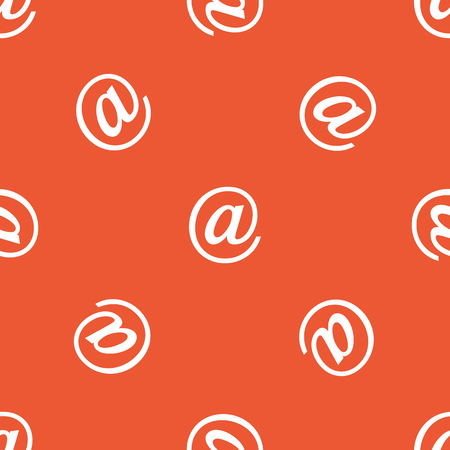 repeated: Image of at-sign, repeated on orange background Illustration