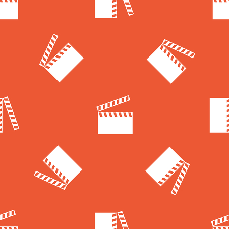 repeated: Image of clapperboard, repeated on orange background Illustration